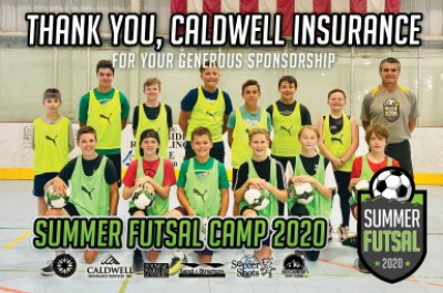 Caldwell Insurance gives to soccer camp