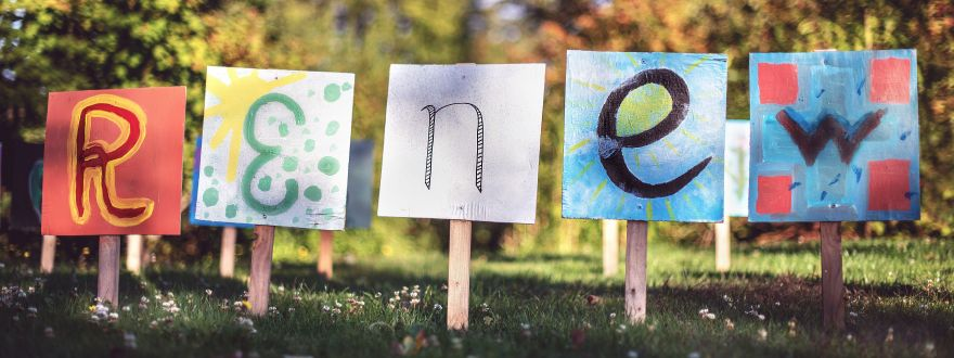 Artwork spelling out word