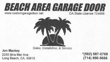Beach Area Garage Door