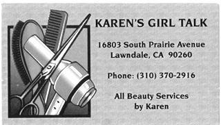 Karen's Girl Talk