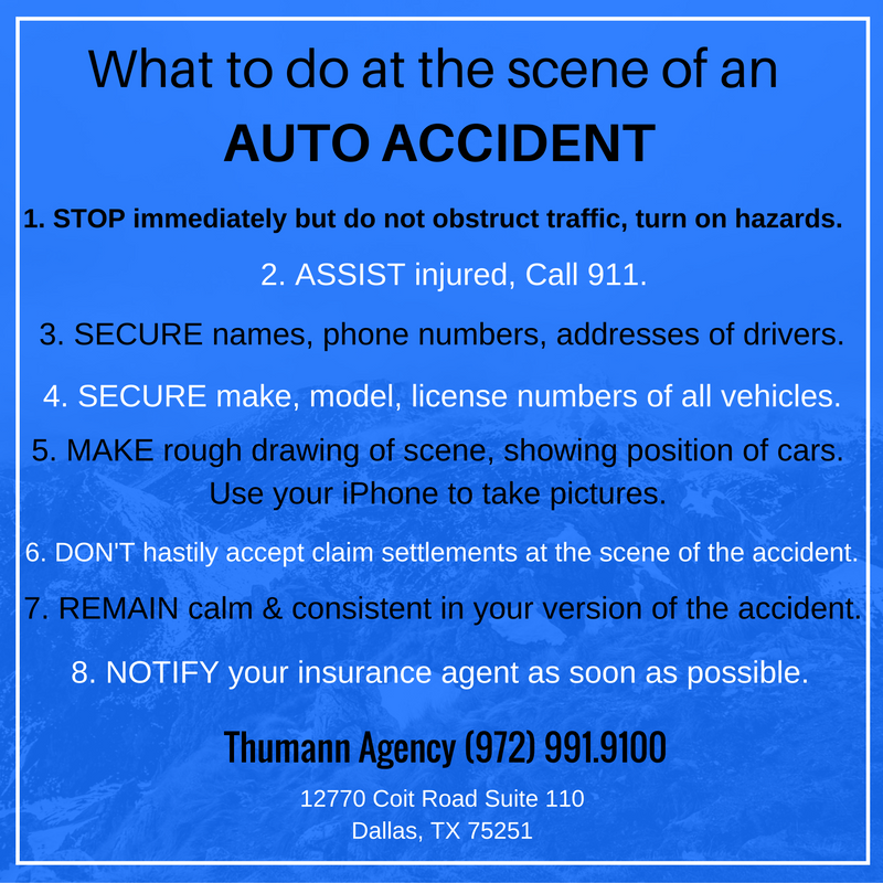 What to do after an auto accident.