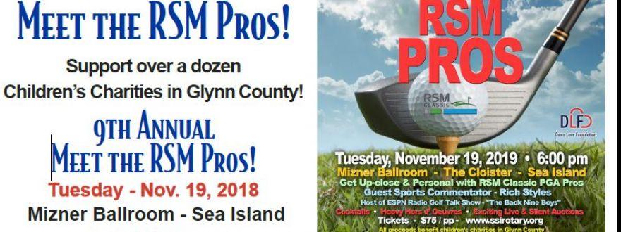 St. Simons Island Rotary - Meet The Pros Event at Sea Island