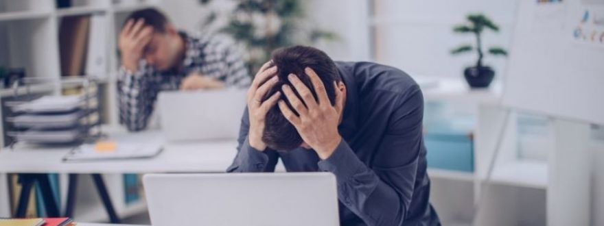 a man upset over having no business insurance