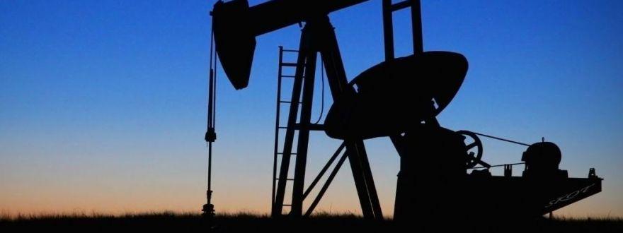 nodding donkey in oil field