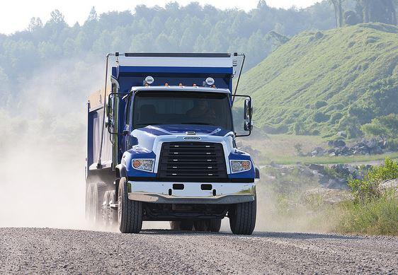 a truck with dump truck insurance
