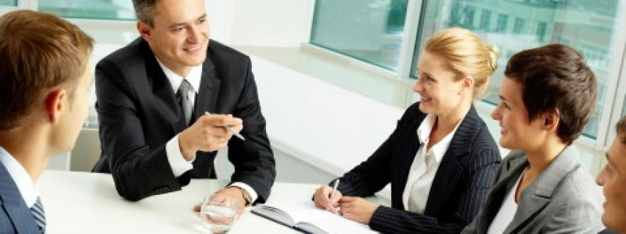 Business owners in meeting